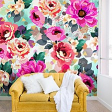 Marta Barragan Camarasa Abstract Geometrical Flowers 12'x8' Wall Mural