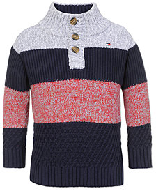 Tommy Hilfiger Little Boys Colorblocked Mock-Neck Sweater