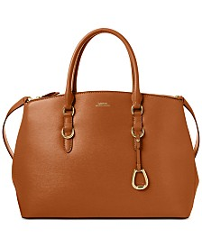 Lauren Ralph Lauren Bennington Double Zip Leather Satchel