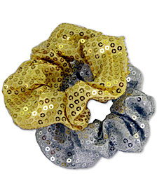 GUESS 2-Pc. Set Sequined Scrunchies