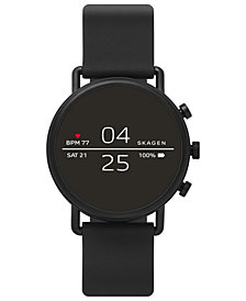 Skagen Men's Falster 2 Black Silicone Strap Touchscreen Smart Watch 40mm