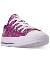 d358a7fcacb Converse Little Girls  Chuck Taylor All Star Party Dress Ox Casual Sneakers  from Finish Line
