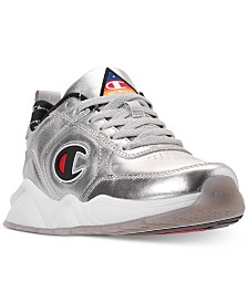 Champion Boys' 93Eighteen Metallic Athletic Training Sneakers from Finish Line