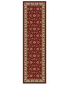 "CLOSEOUT!! Pesaro Meshed Red 2'2"" x 7'7"" Runner Area Rug"