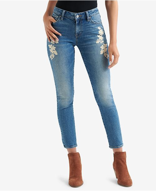 a491ba01971 Lucky Brand Lolita Embroidered Skinny Jeans   Reviews - Jeans ...