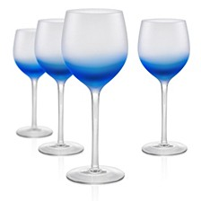 Frost Shadow 17 oz. Blue Goblets, Set of 4