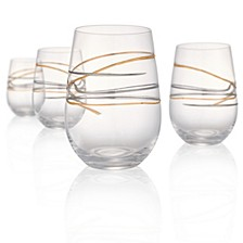 Reflections 15oz Stemless Glasses, Set of 4