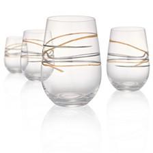 Artland Reflections 15oz Stemless Glasses, Set of 4