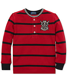 Polo Ralph Lauren Toddler Boys Striped Mesh Cotton Henley Shirt