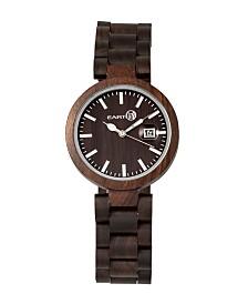 Earth Wood Stomates Wood Bracelet Watch W/Date Brown 40Mm