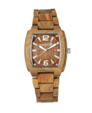 Sagano Wood Bracelet Watch W/Date Olive 42Mm