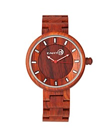 Branch Wood Bracelet Watch Red 45Mm