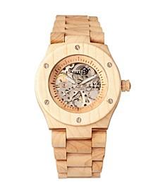 Grand Mesa Automatic Skeleton Wood Bracelet Watch Khaki 44Mm