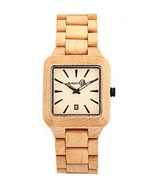 Earth Wood Arapaho Wood Bracelet Watch W/Date Khaki 39Mm