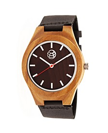 Aztec Leather-Band Watch Brown 43Mm