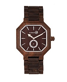 Earth Wood Acadia Wood Bracelet Watch Brown 43Mm