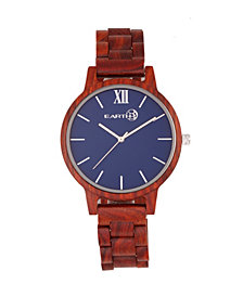 Earth Wood Pike Wood Bracelet Watch Red 45Mm