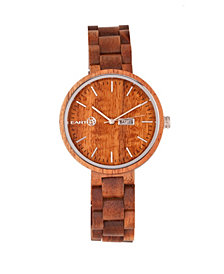Earth Wood Mimosa Wood Bracelet Watch W/Day/Date Olive 39Mm
