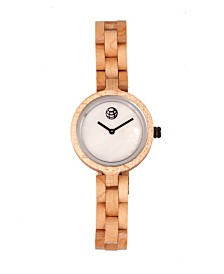 Earth Wood Wisteria Mother-Of-Pearl Wood Bracelet Watch Khaki 32Mm