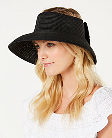 I.N.C. Bow Roll-Up Visor, Created for Macy's