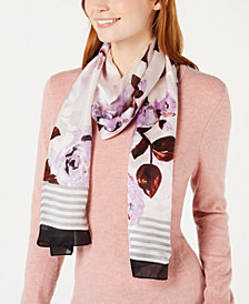 Vince Camuto Roses Are Sweet Silk Oblong Scarf