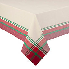 "Arlee Holiday Monroe 70"" Round Tablecloth"