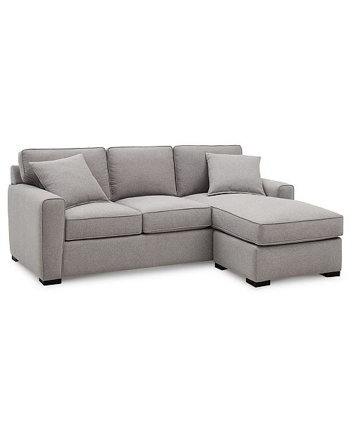 Callington 89 Fabric 2-Piece Reversible Chaise Sectional Sofa, Created for  Macy\'s