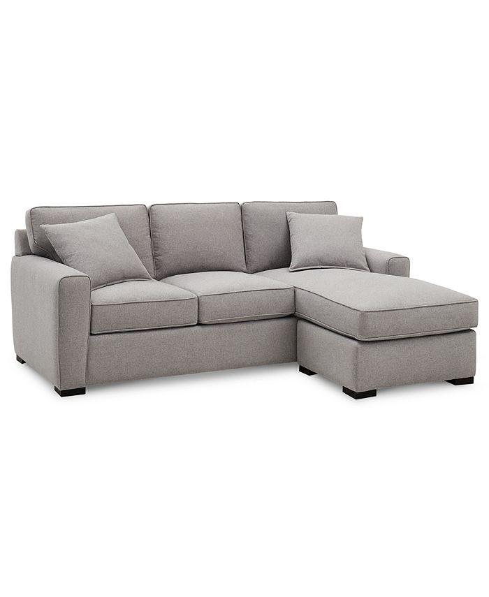 "Furniture - Callington 89"" Fabric 2-Piece Sectional"