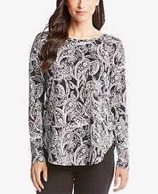 Karen Kane Printed Long-Sleeve Top