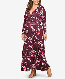 Motherhood Maternity Plus Size Printed Maxi Dress