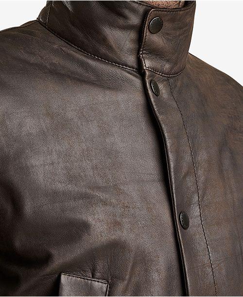 6ce0a3fd4 Barbour Men's Thomas Leather Jacket & Reviews - Coats & Jackets ...