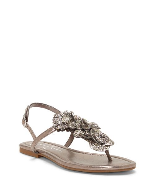 b0fa5991362 Jessica Simpson Kelanna Embellished Flat Sandals   Reviews - Home ...