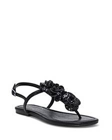 Kelanna Embellished Flat Sandals