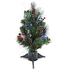 "National Tree 18"" Fiber Optic Crestwood Spruce Tree"