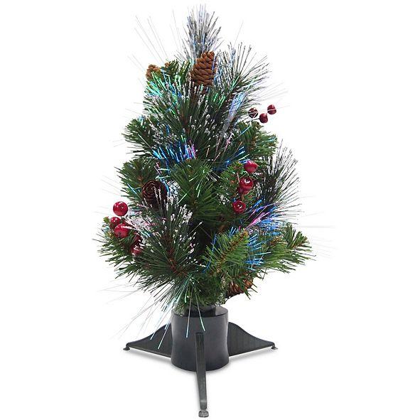 "National Tree Company National Tree 18"" Fiber Optic Crestwood Spruce Tree"