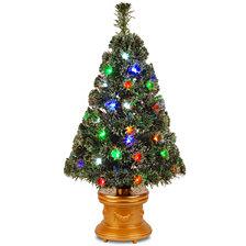 "National Tree 36"" Fiber Optic Evergreen Fireworks"