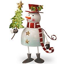 "National Tree 10"" Metal Bobble Snowman"