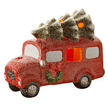 "National Tree Company 6.7"" Terra Cotta Truck with Battery Operated LED Lights"