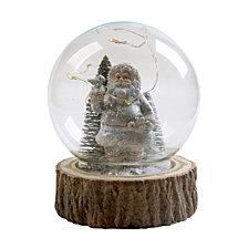 "National Tree Company 6""  Santa in Glass Globe with LED Lights"