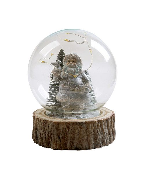 "National Tree Company 6""  Santa in Glass Globe with LED Lights"