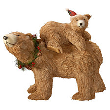 "National Tree 14.5"" Brown Bear with Baby"
