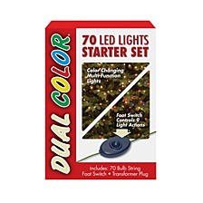 National Tree 70 Bulb Dual Color LED Light String STARTER SET, 9 Function
