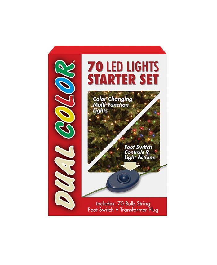 National Tree Company - National Tree 70 Bulb Dual Color® LED Light String Starter Set, 9 Function