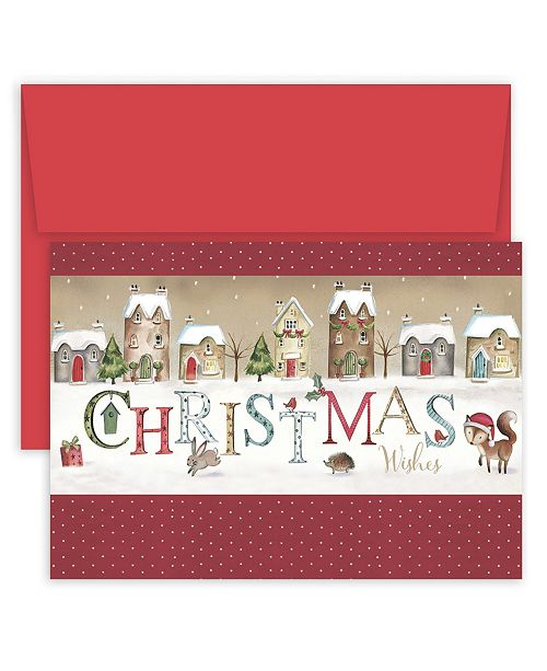 Christmas Wishes Village Boxed Holiday Cards