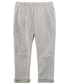 First Impressions Baby Girls Heart-Patch Jogger Pants, Created for Macy's