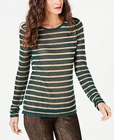MICHAEL Michael Kors Metallic-Stripe Sweater, in Regular and Petite Sizes