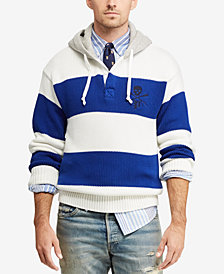 Polo Ralph Lauren Men's Hooded  Rugby Sweater
