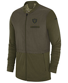 Nike Men's Oakland Raiders Salute To Service Elite Hybrid Jacket