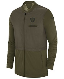 Nike Men's Oakland Raiders Salute To Service Elite Hybrid Jacket