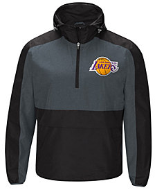G-III Sports Men's Los Angeles Lakers Leadoff Lightweight Half-Zip Jacket